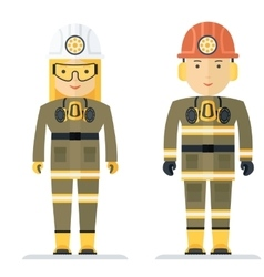 Profession coal miner vector