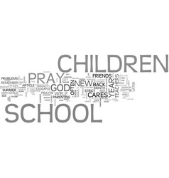 a new school year text word cloud concept vector image vector image