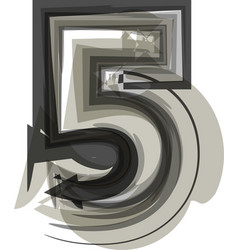 Abstract number 5 vector