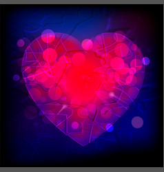 abstract purple and red heart vector image vector image