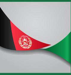 Afghanistan wavy flag vector