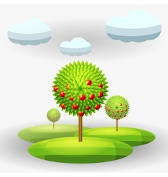 apple-tree vector image