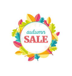 autumn leaves sale vector image vector image