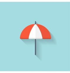 Beach umbrella web flat icon vector