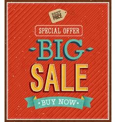 Big sale typographic design vector image vector image