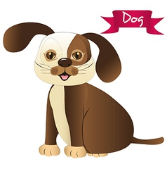 brown dog isolated over whitte background vector image