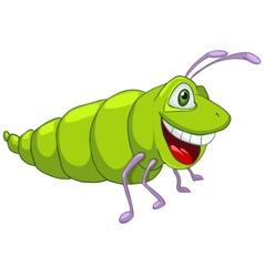 Cartoon character caterpillar vector