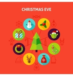 Christmas eve infographic concept vector