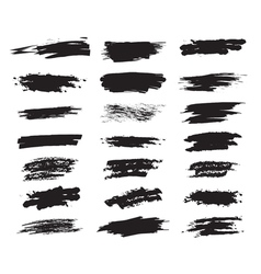 Collection hand-drawn brush strok vector image vector image