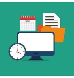 computer network media social tools icon vector image