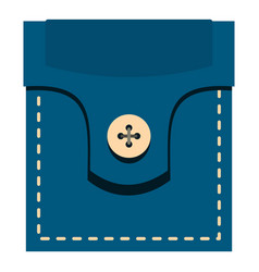 Fashion pocket for shirt icon isolated vector