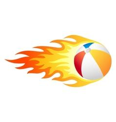 Flaming beach ball vector image vector image