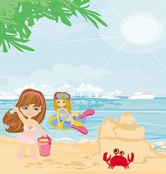 Fun on the beach vector image vector image