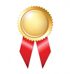gold award ribbons vector image vector image