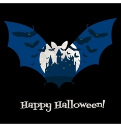 Halloween card with castle vector