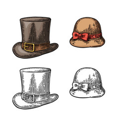 ladies and gentlemen hat vector image