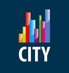 Logo city in the form of diagram vector