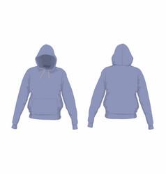 mens purple hoodie vector image vector image