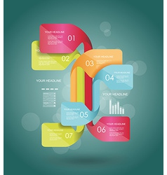 Modern minimalistic infographics banner vector image vector image