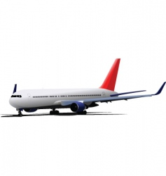 Passenger jet plane vector