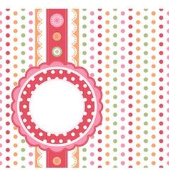 Polka dot design frame vector