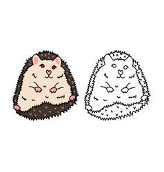 Porcupine or hedgehog vector