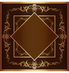 square frame with filigree ornament vector image vector image