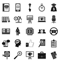 work week icons set simple style vector image vector image