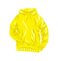 Yellow hoody vector