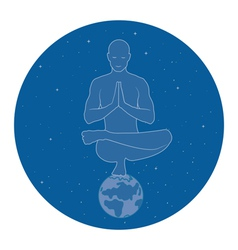 Yoga in space vector