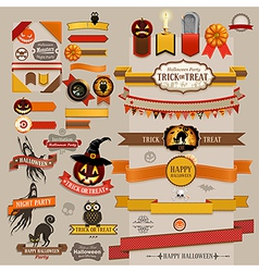 halloween ribbons vector image