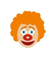 Clown face icon flat style vector