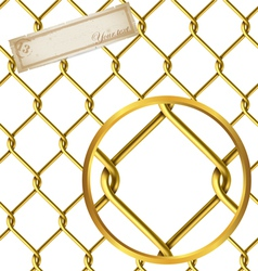 Seamless golden wire pattern vector