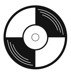 vinyl record icon simple style vector image