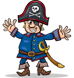 Pirate captain cartoon vector