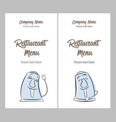 set restaurant vintage menu design templates vector image