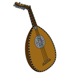 Old stringed musical instrument vector