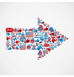 Us elections icons in arrow shape vector