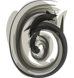 Abstract number 6 vector