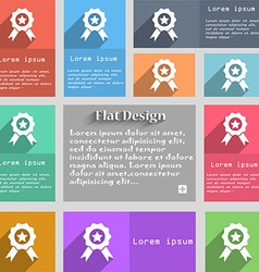 Award medal of honor icon sign set of multicolored vector