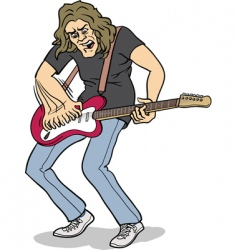 Electric guitar player vector