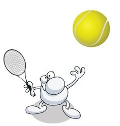 Man tennis vector