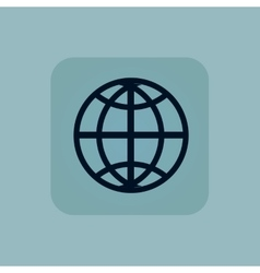 Pale blue globe icon vector