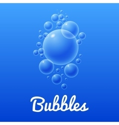 Ocean bubbles icon with text vector