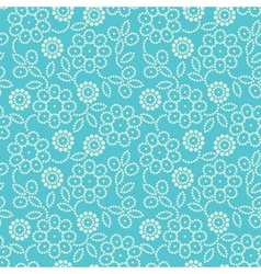 Floral seamless pattern in blue vector