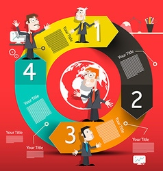 Circle infographic layout with arrows and business vector