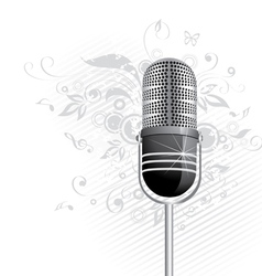 classic microphone graphic vector image