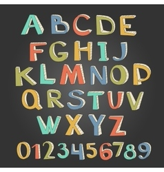 Unique alphabet and numbers vector