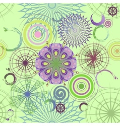 Seamless circles background vector image