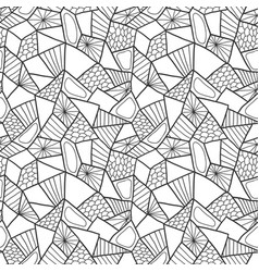 Abstract seamless pattern doodle monochrome vector